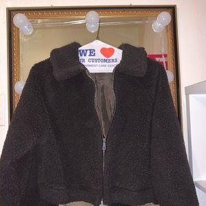 Teddy faux fur bomber jacket from boohoo